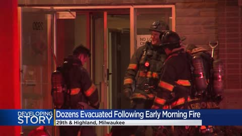 Early-morning fire forces dozens to evacuate apartment complex...